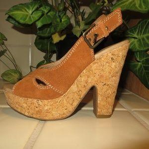 Brown Platform Sandals by XHILARATION - Size 5.5